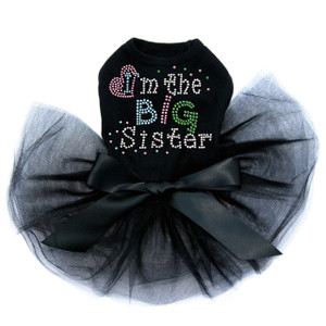 I'm the Big Sister  rhinestone dog tutu for large and small dogs.