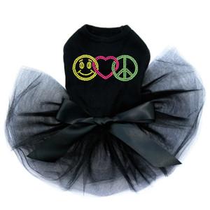 Smiley Face, Love, Peace Tutu