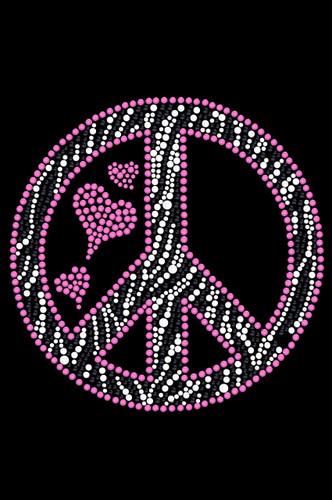 Peace Sign (Pink & Zebra Print) Tutu