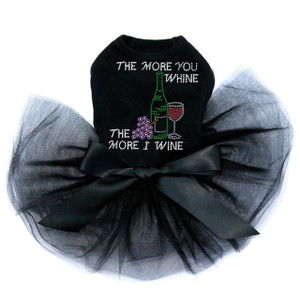 Wine Bottle, Glass & Grapes - The More you Whine... - Tutu