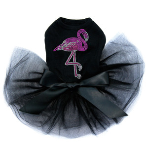 Pink Flamingo - Iridescent (AB)  Tutu for big and small dogs