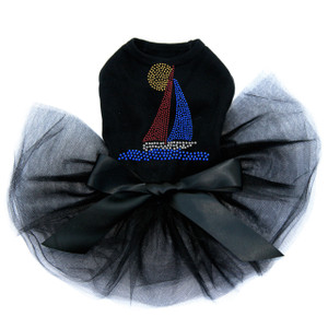 Sailboat - Rhinestud  Tutu for big and small dogs