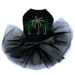 Palm Trees - Green Rhinestones Tutu for big and small dogs