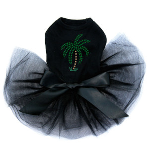 Palm Tree -Green Rhinestones - Small Tutu for big and small dogs