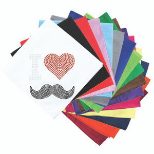 I Love Mustache Bandanna