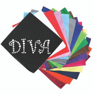 Diva (Silver Rhinestuds) - Bandanna