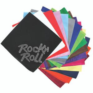 Rock n Roll (Rhinestone) - Bandanna