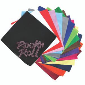 Rock n Roll (Pink Rhinestuds) - Bandanna