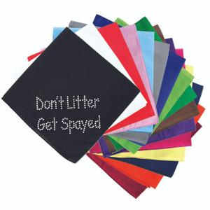 Don't Litter Get Spayed - Bandanna