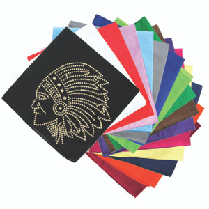 Indian (Gold Nailheads) - Bandanna