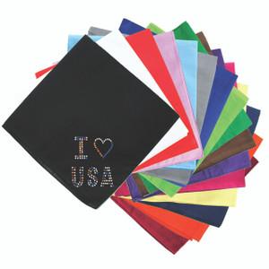 I Love USA (Multicolor Rhinestones) Bandanna