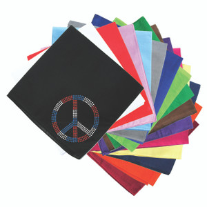 Peace Sign (Red, White, & Blue) - Bandanna