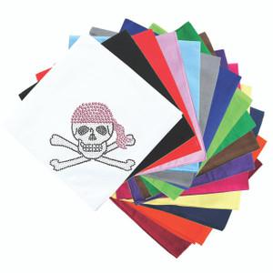 Skull with Pink Bandanna - Bandanna
