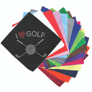 I Love Golf (Small) - Bandanna