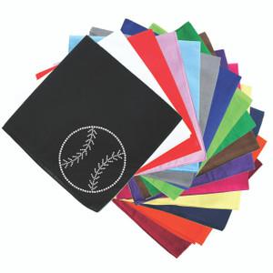 Baseball (Rhinestone Outline) - Bandanna