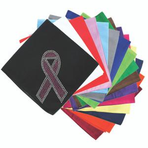 Ribbon (Pink with Clear Rhinestones) - Bandanna