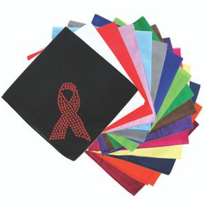 Ribbon (Red Rhinestones) - Bandanna