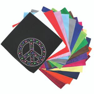 Peace Sign with Stars & Hearts - Bandanna