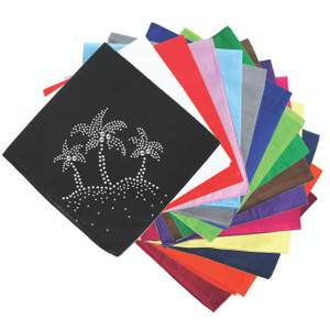Palm Trees (Silver)  - Bandanna