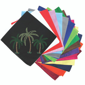 Palm Trees (Green Rhinestones) - Bandanna