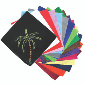 Palm Tree (Green Rhinestones) - Bandanna