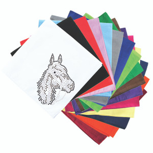 Horse Face (Brown Rhinestuds) - Bandanna