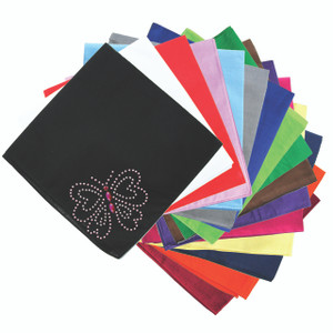 Pink Rhinestud Butterfly - Bandannas