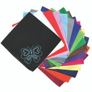 Blue Rhinestud Butterfly - Bandannas