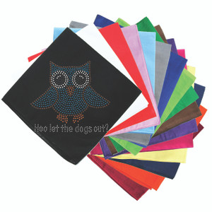 "Blue Owl with ""Who Let the Dogs Out?"" - Bandannas"