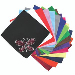 Pink Swarovski Rhinestone & Rhinestud Butterfly - Bandannas