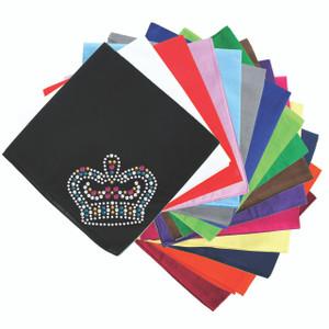 Crown # 5 (Fuschia, Turquoise, Silver, Gold, & Clear Swarovski) - Bandanna