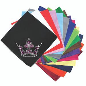 Crown # 6 (Clear, Pink, & AB) - Bandanna