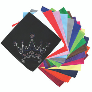 Crown #16 (Clear, Blue, Green, & Pink) - Bandanna