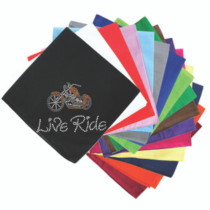 Live - Ride - (Orange) Motorcycle - Bandannas