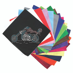 Motorcycle (Red, White, & Turquoise) - Bandannas