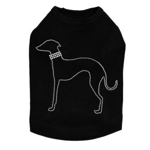 Greyhound Outline Dog Tank