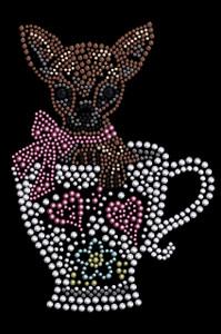 Chihuahua in Teacup - Women's T-shirt