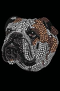 Bulldog Face (Brown) - Women's T-shirt