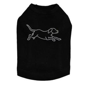 Labrador Retriever Outline Dog Tank