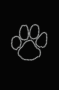 Paw (Rhinestone Outline) - Women's T-shirt