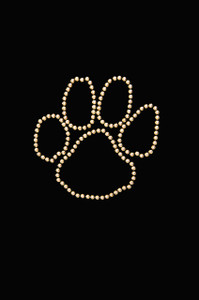 Paw (Gold Nailheads) - Women's T-shirt
