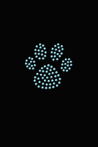 Paw (Blue Rhinestuds) - Women's T-shirt