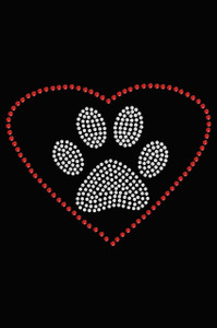 Heart with Paw - Women's T-shirt