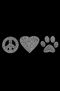 Peace, Love Paw (Rhinestone) - Women's T-shirt