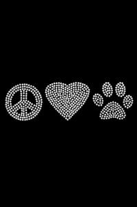Peace, Love Paw (Rhinestone) - Women's T-shirt