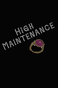 High Maintenance - Swarovski  Fuchsia Ring - Women's T-shirt
