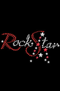 Rock Star (Red Swarovski Rhinestones) - Women's T-shirt