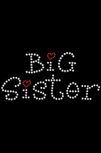 Big Sister with Red Heart  - Women's T-shirt
