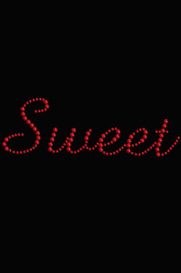 Sweet (Red Rhinestuds) - Women's T-shirt