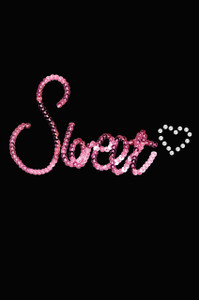 Sweet (Pink Sequins)  - Women's T-shirt